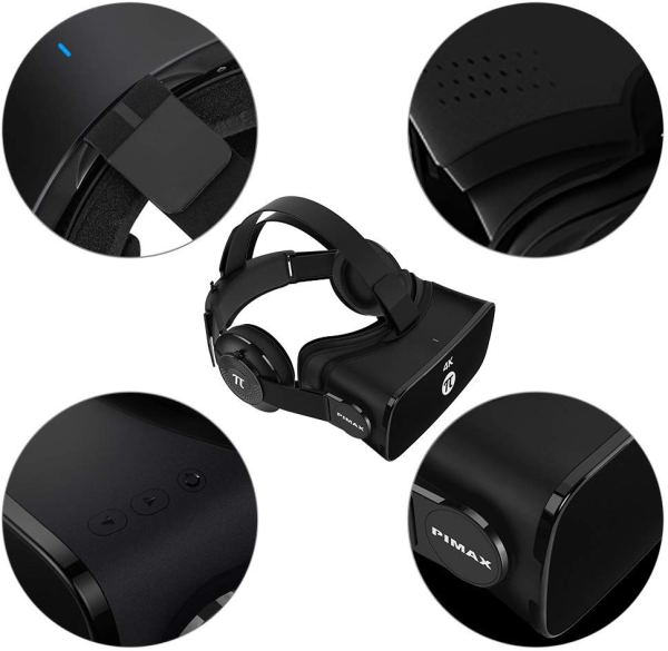 PIMAX 4K Virtual Reality Headset VR Headset 3D VR Glasses for PC Game Video by PIMAX4