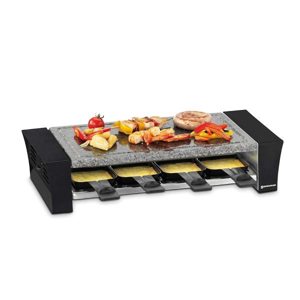 Swissmar KF-77088 Ticino 8- Person Raclette with Granite Stone Top, Black3