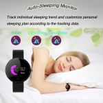 kingkok Colorful OLED Screen Dynamic Heart Rate and Blood Pressure Watch with 6