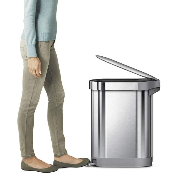 simplehuman Slim Step Can Brushed Stainless Steel, 45 4