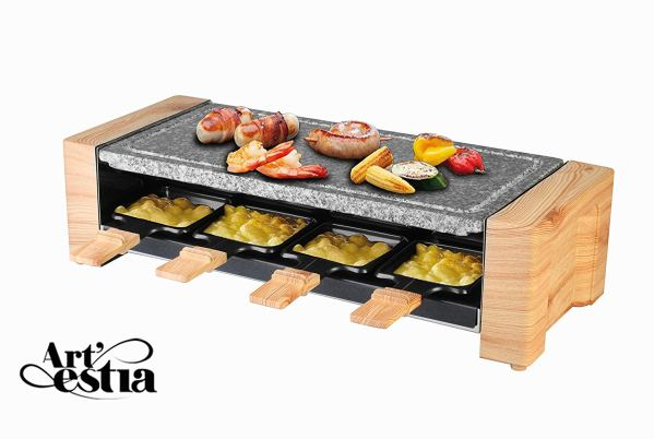 Artestia Electric Raclette Grill with High Density Granite Grill Stone,1600W High Powe2