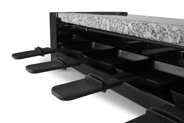 Artestia Electric Raclette Grill with High Density Granite Grill Stone,1600W High Power 2