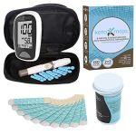 KETO-MOJO Blood Ketone and Glucose Testing Meter Kit, Monitor Your ketogenic Diet, 1 Lancet Device