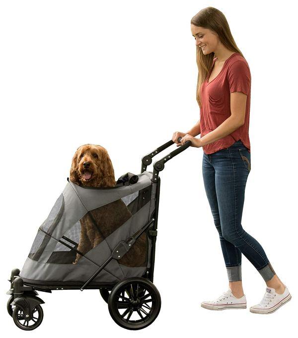 Pet Gear NO-Zip Stroller, Botão Zipperless Entrada Dupla, para