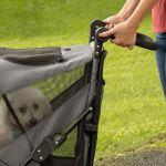 Pet Gear NO-Zip Stroller, Botão Zipperless Entrada Dupla, para6