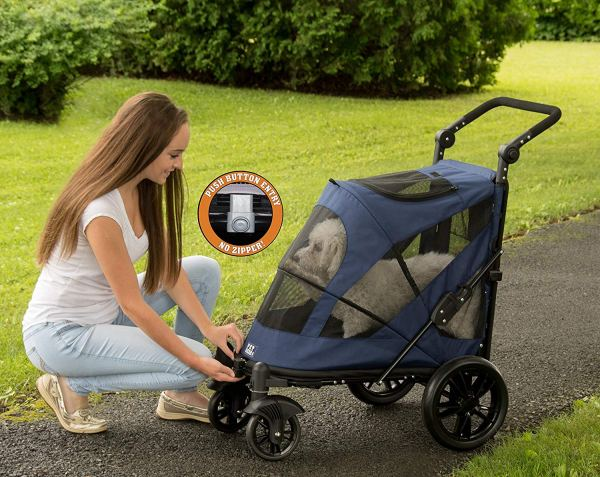 Pet Gear NO-Zip Stroller, Push Button 2