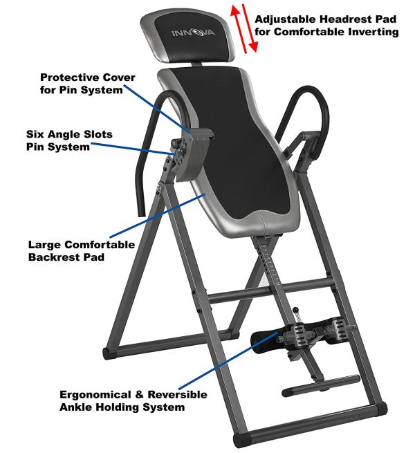 Innova ITX9600 Heavy Duty Inversion Table with Adjustable Headrest & Protective Cover2