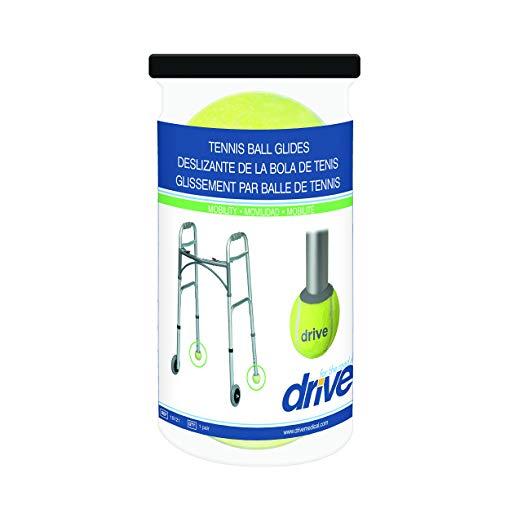 Drive Medical Deluxe Walker Rear Tennis Ball Glides, Yellow 4