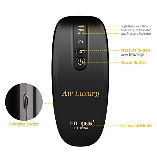 FIT KING Rechargeable Leg Air Massager Cordless Leg Wrap for Calf and Arm Relaxation6