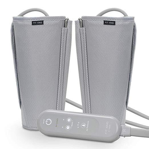 FIT REI Leg Air Massageador para Massagem Circulação Compressão Sequencial Wraps com Controlador de Mão 2 Modos 3 Intensidades