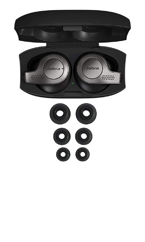 Jabra Elite 65t Alexa Enabled True Wireless Earbuds with Charging Case – Titanium Black5