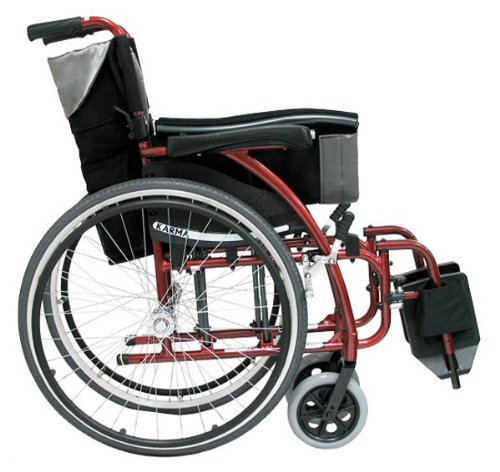 Karman Healthcare S-115 Ergonomic Ultra Lightweight Manual Wheelchair, Rose Red, 18 Inches Seat Width3