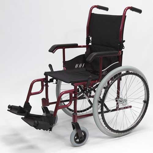 Karman LT-980 – Cadeira de Rodas Ultra Leve (Borgonha)