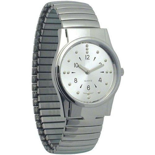 Men's Chrome Braille Watch