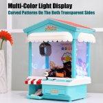 Mini Máquina de pegar brinquedos, bichinhos, doce com Exposição de luz multi-cor, música, moedas2
