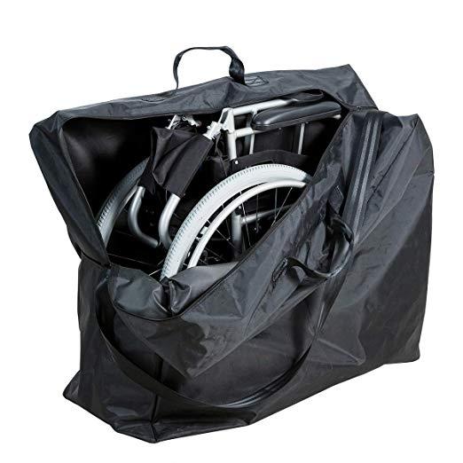 Saco de viagem Hi-fortune para cadeira de rodas automotora HM303D & Transporte HM03MS de cadeira de rodas, preto 2