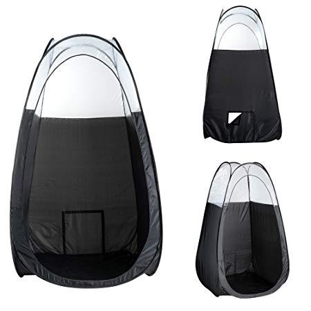 Tenda para bronzeamento a jato dobra facilmente em 30 segundos com bolsa de transporte Cor Preta2