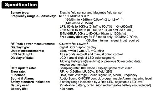 Dispositivo Tri-mode CORNET® ED-88T 100MHz-8GHz | RF LF ELF Meter3