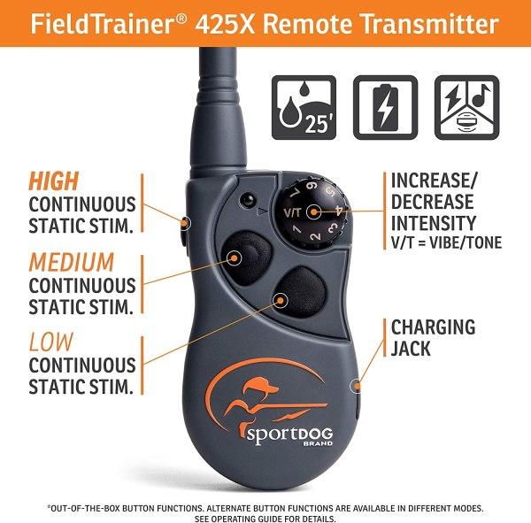 Coleira De Adestramento Sportdog Fieldtrainer Sd 425x vibração e tom – à prova d'água, recarregável3