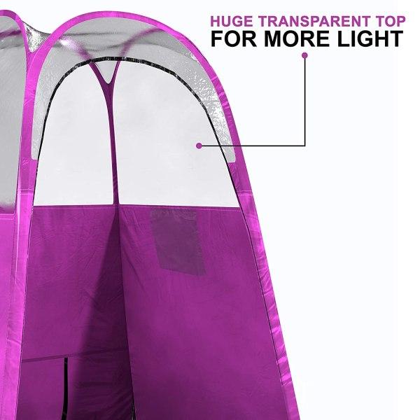 Tenda barraca para bronzeamento a jato dobra facilmente em 30 segundos com bolsa de transporte não tem logotipo na barraca Cor rosa