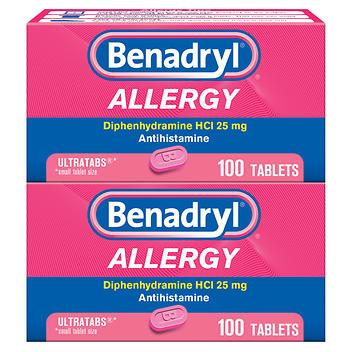 Benadryl Allergy Difenidramina HCL 25 mg – 200 comprimidos