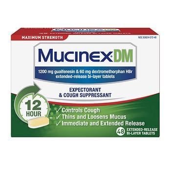 Força máxima de Mucinex DM, 48 comprimidos