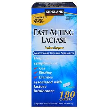 Kirkland Signature Lactase de ação rápida- 180 cápsulas