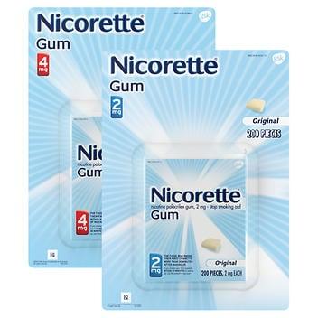Nicorette Ajuda para parar de fumar 2mg. ou 4 mg – 200 gomas