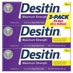 Pack com 3 Desitin Força Máxima – 136 g Cada