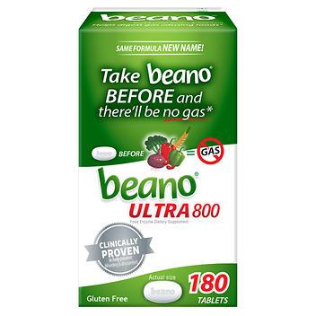 Suplemento alimentar enzimático Beano ULTRA 800 – 180 comprimidos