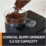 Cafeteira Krups Grind and Brew KM785D50 super automático preta e inox de filtro 110V.