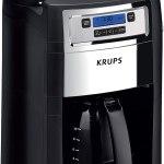 Cafeteira Krups Grind and Brew KM785D50 super automático preta e inox de filtro 110V