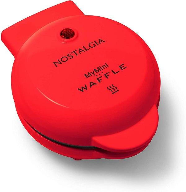 Mini Maquina De Waffle Nostalgia -MWF5AQ -110V RED