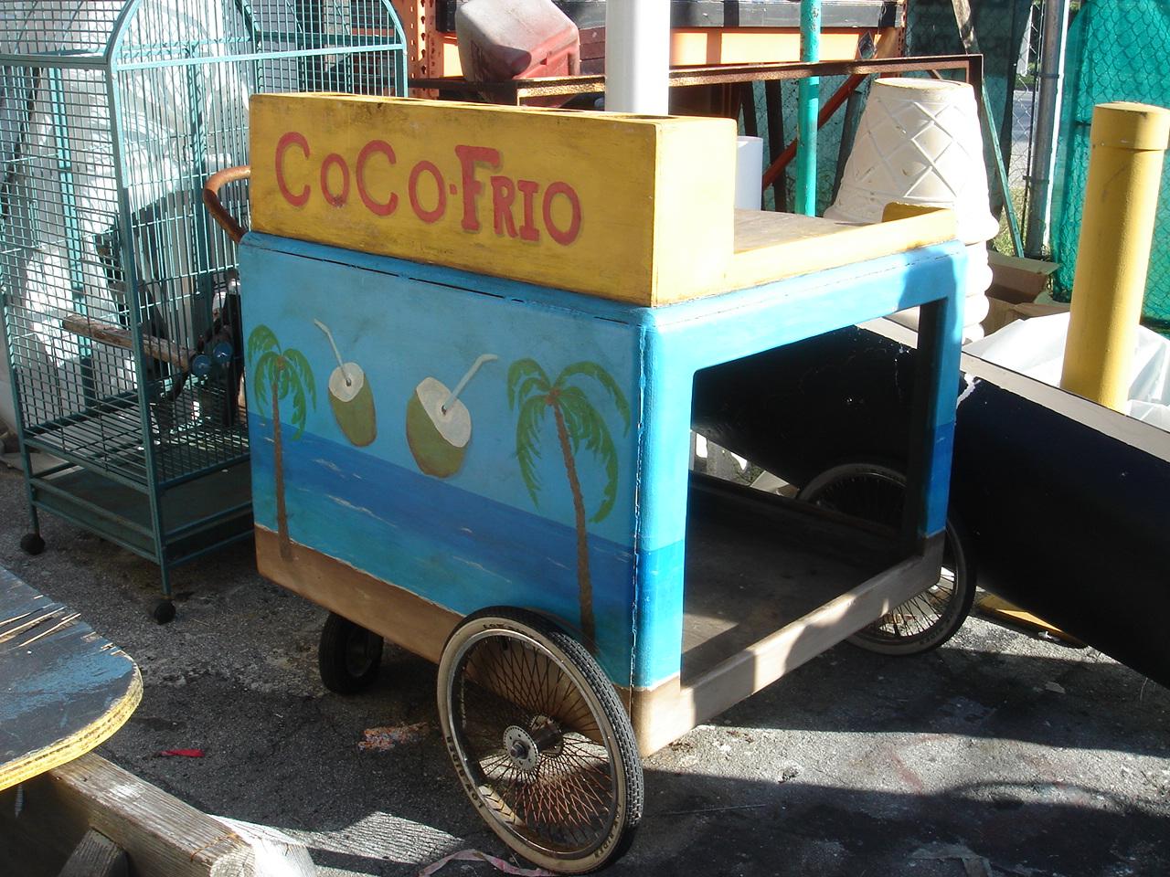 COCONUT CART ICE CREAM CART Miami Prop Rental