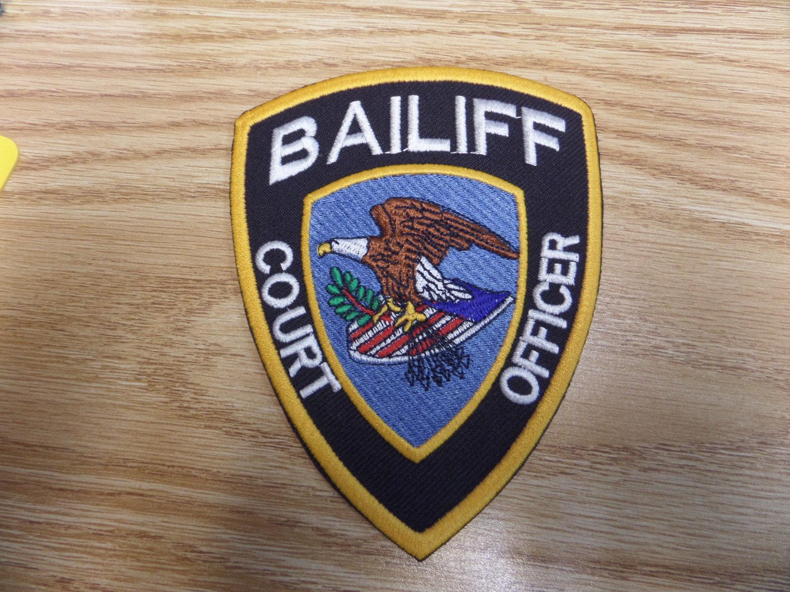BAILIFF SHOULDER PATCH Miami Prop Rental