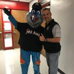 Southridge Athletics and Miami Marlins Mascot