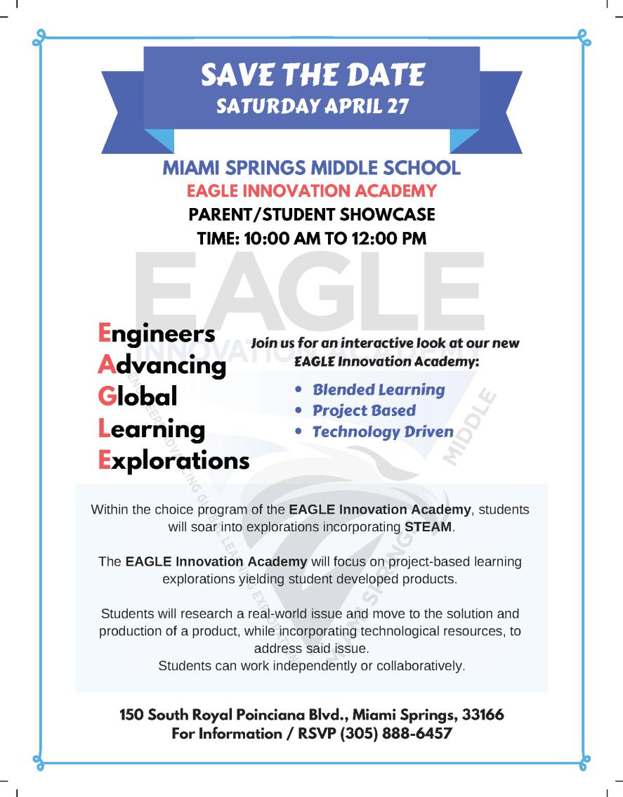 EAGLE Innovation Academy Showcase Flyer