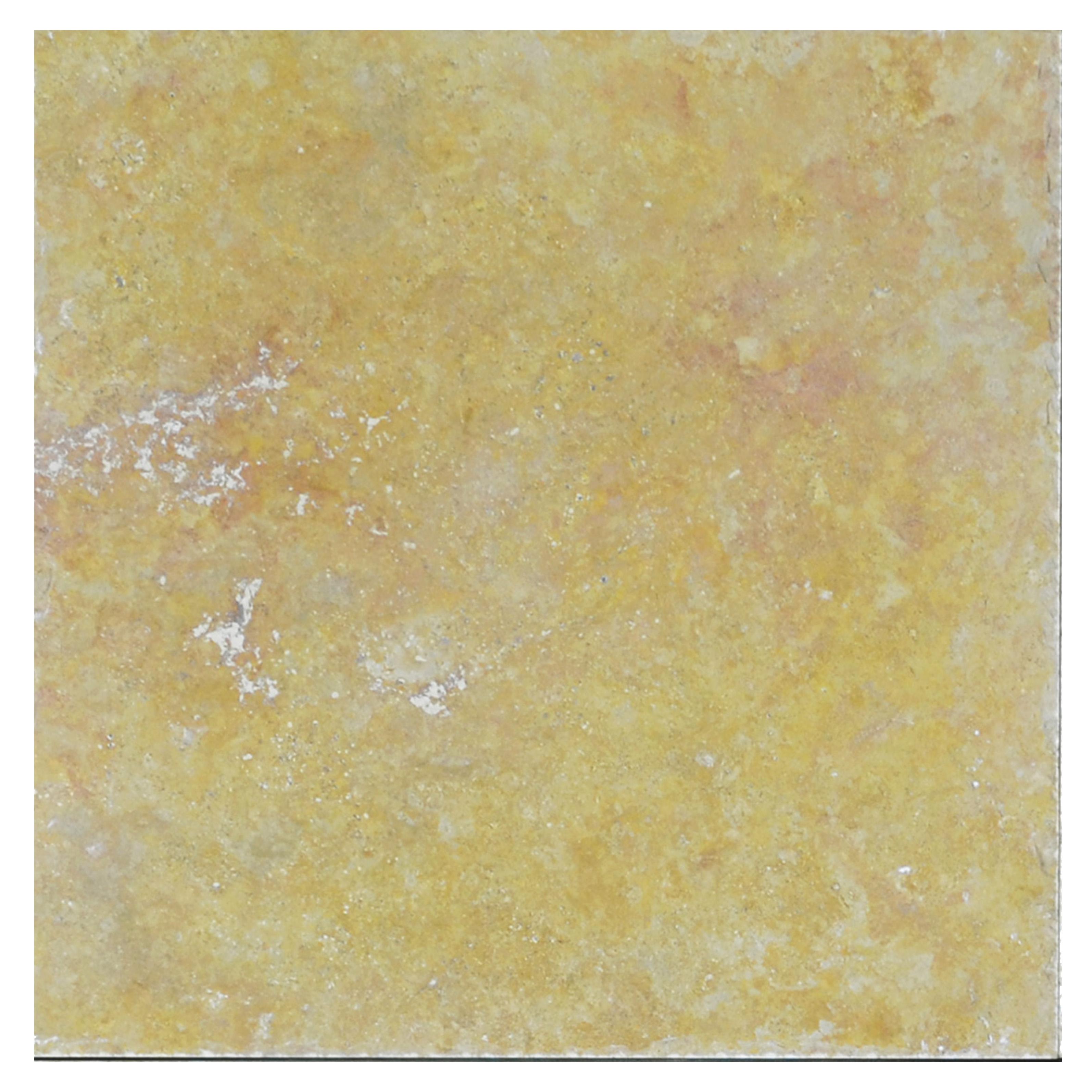 gold honed filled chiseled travertine
