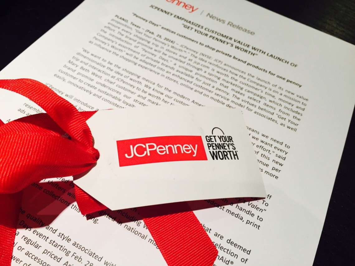 """JCPENNEY LAUNCHES   """"GET YOUR PENNEY'S WORTH"""""""