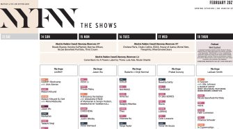 New York Fashion Week – NYFW The Shows – February 2021 Schedule