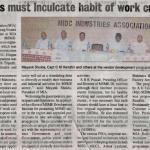 Vendor Development Program - Press Release (Hitavada, Wednesday, 26th March)