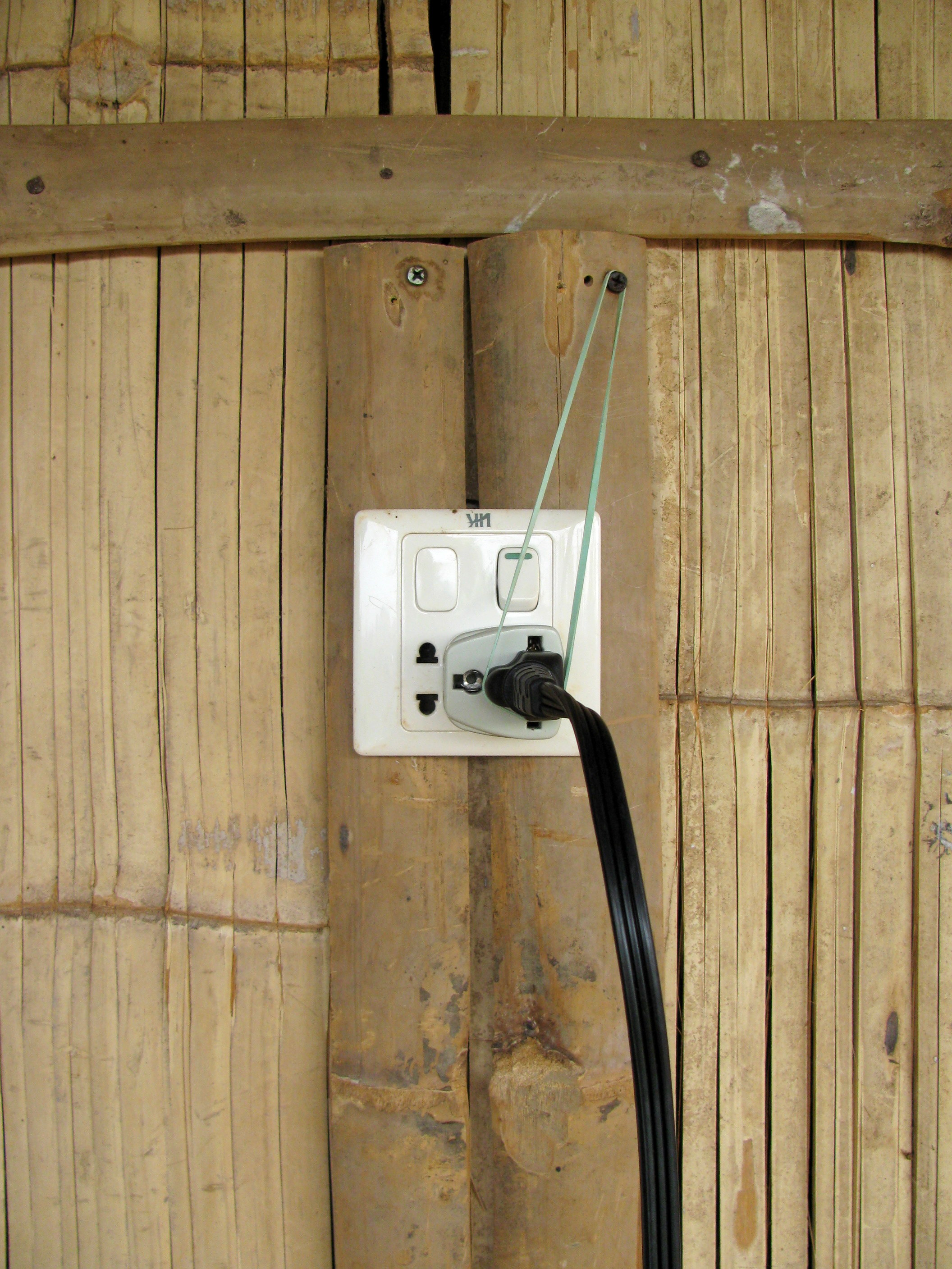 Electricity, Tree Tops Lodge, Ban Lung, Cambodia