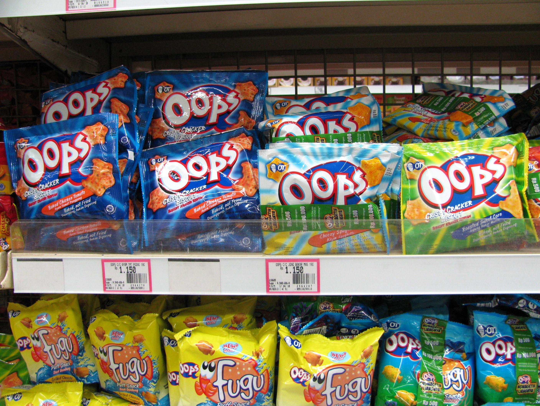Ooops crackers, Lombok, Indonesia