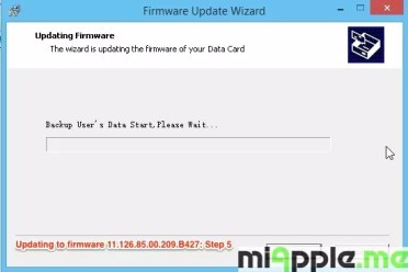 Huawei E173 U-1 - Updating to firmware 11.126.85.00.209.B427: Step 5