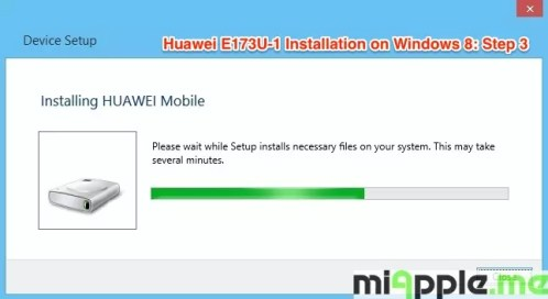 Huawei E173U-1 Installation on Windows 8: Step 3