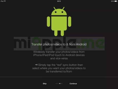 PhotoSync 2.1 features: Photos and videos transfer from iPhone, iPad and iPod touch to Android devices and vice-versa