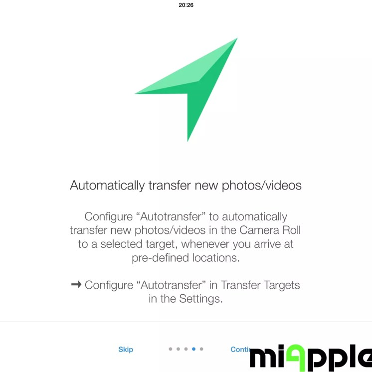 PhotoSync 2.1 Quick Start Help light: Automatically transfer new photos or videos at pre-defined locations