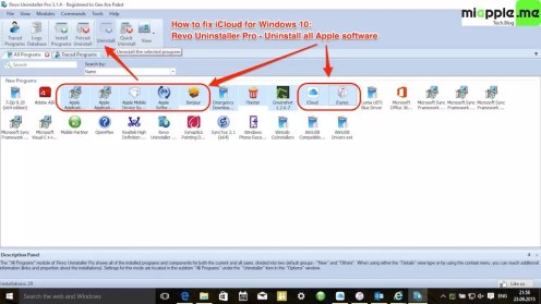 iCloud for Windows 10_04_uninstall all Apple software with Revo uninstaller pro