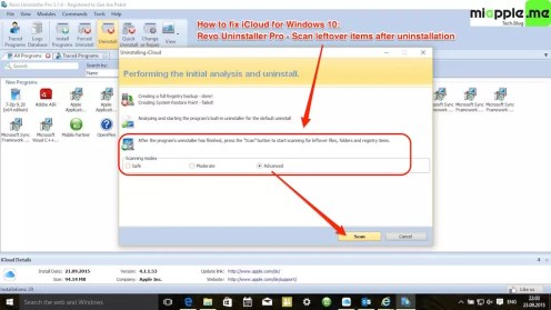 iCloud for Windows 10_05_uninstall iCloud for Windows with Revo uninstaller pro