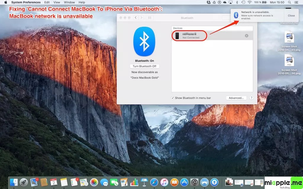 Fix cannot connect MacBook to iPhone via bluetooth_02_MacBook network is unavailable